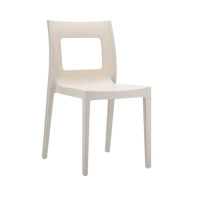 Cafe Plastik Gri Sandalyesi