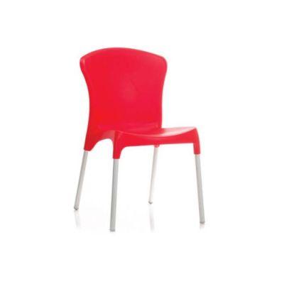 Mekan İç Plastik Kırmızı Sandalye