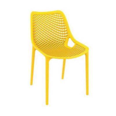 Bahçe Örme Sarı Sandalyesi