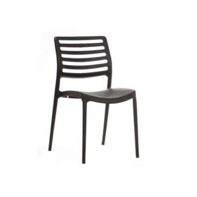 Plastik Çıtalı yatay Siyah Sandalye