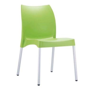 Cafe Plastik Yeşil Sandalyesi